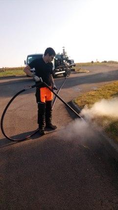 Application vapeur fil d'eau